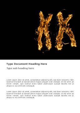 Chromosome Word Template, Cover Page, 03368, Medical — PoweredTemplate.com