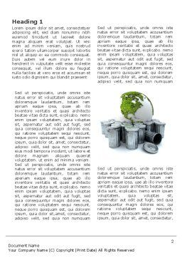 Refuse Bin Word Template, First Inner Page, 03371, Nature & Environment — PoweredTemplate.com