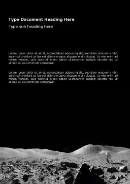 Moon Landscape Word Template, Cover Page, 03373, Technology, Science & Computers — PoweredTemplate.com