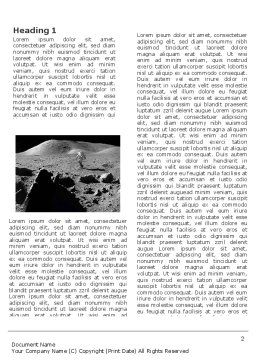 Moon Landscape Word Template, First Inner Page, 03373, Technology, Science & Computers — PoweredTemplate.com