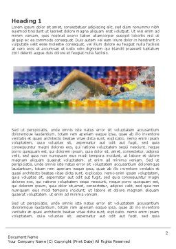 Swimming Contest Word Template, First Inner Page, 03375, Sports — PoweredTemplate.com