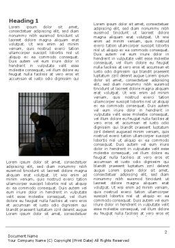 Prison Cell With Prisoner Word Template, First Inner Page, 03377, Legal — PoweredTemplate.com