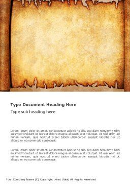 Scroll Word Template, Cover Page, 03378, Abstract/Textures — PoweredTemplate.com