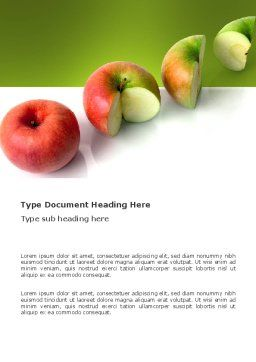 Three Quarters Apple Word Template, Cover Page, 03379, Business Concepts — PoweredTemplate.com
