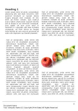 Three Quarters Apple Word Template, First Inner Page, 03379, Business Concepts — PoweredTemplate.com