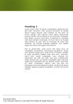Three Quarters Apple Word Template, Second Inner Page, 03379, Business Concepts — PoweredTemplate.com