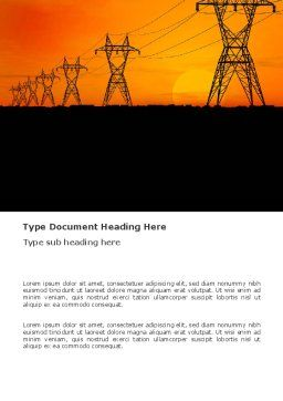Transmission Facilities Word Template, Cover Page, 03380, Utilities/Industrial — PoweredTemplate.com