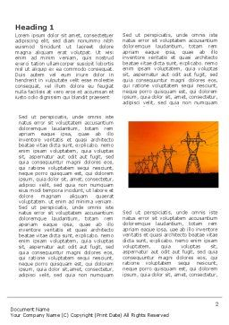 Transmission Facilities Word Template, First Inner Page, 03380, Utilities/Industrial — PoweredTemplate.com