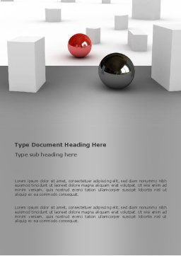 Abstract Problem Solution Word Template, Cover Page, 03381, 3D — PoweredTemplate.com