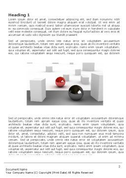 Abstract Problem Solution Word Template, First Inner Page, 03381, 3D — PoweredTemplate.com
