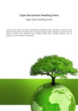 Yggdrasill Word Template, Cover Page, 03382, Military — PoweredTemplate.com