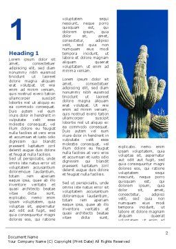 Desert Cactus Word Template First Inner Page