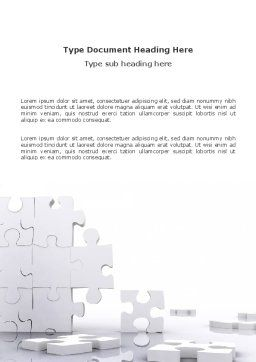 Puzzle Wall Word Template, Cover Page, 03387, Business Concepts — PoweredTemplate.com
