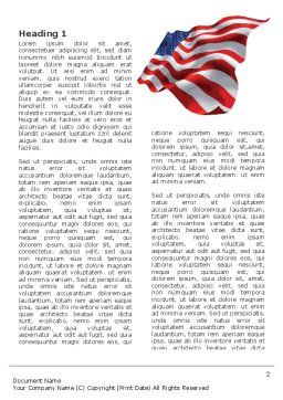 American Stars and Stripes Flag Word Template, First Inner Page, 03389, Holiday/Special Occasion — PoweredTemplate.com