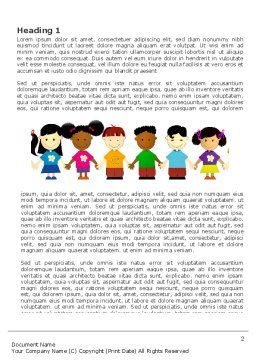 Childhood Word Template, First Inner Page, 03391, Education & Training — PoweredTemplate.com