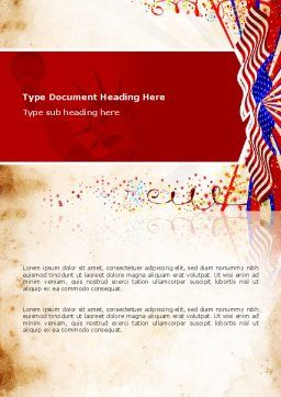 4th of July Celebration Free Word Template, Cover Page, 03392, Holiday/Special Occasion — PoweredTemplate.com