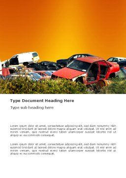 Car Dump Word Template, Cover Page, 03394, Utilities/Industrial — PoweredTemplate.com