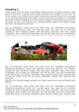 Car Dump Word Template, First Inner Page, 03394, Utilities/Industrial — PoweredTemplate.com