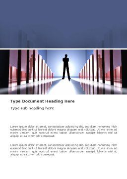 Perspective Word Template, Cover Page, 03395, Business Concepts — PoweredTemplate.com