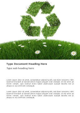 Recycling Symbol Word Template, Cover Page, 03397, Nature & Environment — PoweredTemplate.com