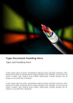 Fiber Optics Word Template, Cover Page, 03399, Telecommunication — PoweredTemplate.com