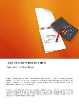 Financial Analytics Word Template Cover Page