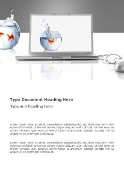 Multimedia Laptop Word Template, Cover Page, 03402, Business Concepts — PoweredTemplate.com