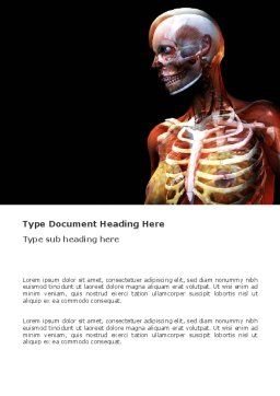 Female Anatomy Breast And Facial Bones Word Template, Cover Page, 03404, Medical — PoweredTemplate.com