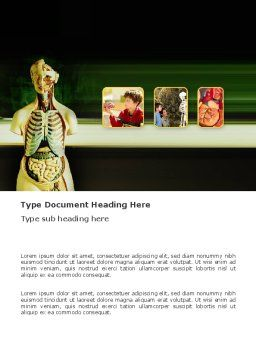 Anatomy Lessons Word Template, Cover Page, 03406, Medical — PoweredTemplate.com