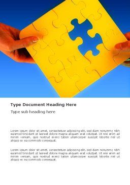 Missing Part Searching Word Template, Cover Page, 03407, Consulting — PoweredTemplate.com
