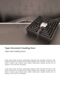 Maze Word Template, Cover Page, 03409, Business Concepts — PoweredTemplate.com