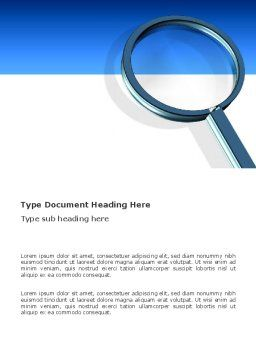 Magnifying Glass In Search Word Template, Cover Page, 03413, Consulting — PoweredTemplate.com