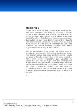 Magnifying Glass In Search Word Template, Second Inner Page, 03413, Consulting — PoweredTemplate.com