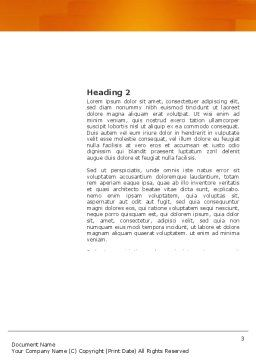 Under Construction Word Template, Second Inner Page, 03416, Construction — PoweredTemplate.com