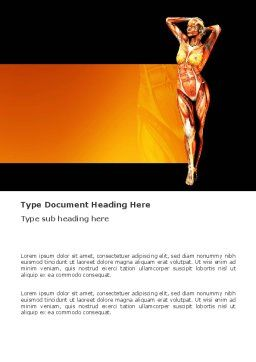 Female Body Anatomy Word Template, Cover Page, 03418, Medical — PoweredTemplate.com