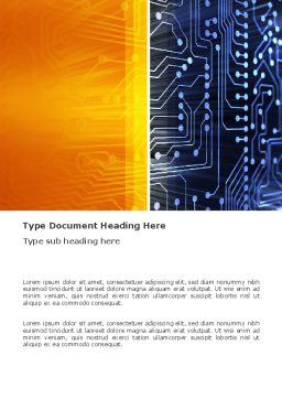 Circuit Board Word Template, Cover Page, 03422, Technology, Science & Computers — PoweredTemplate.com