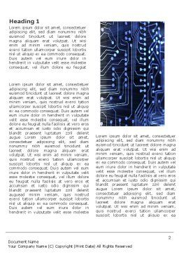 Circuit Board Word Template, First Inner Page, 03422, Technology, Science & Computers — PoweredTemplate.com
