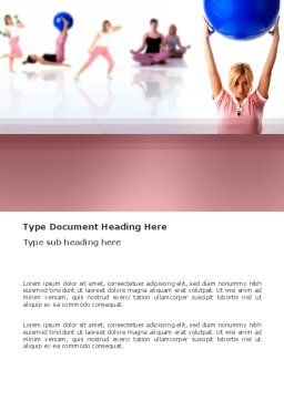 Women's Fitness Club Word Template, Cover Page, 03425, Sports — PoweredTemplate.com