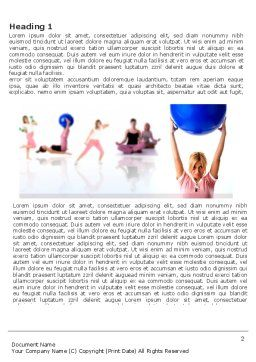Women's Fitness Club Word Template, First Inner Page, 03425, Sports — PoweredTemplate.com