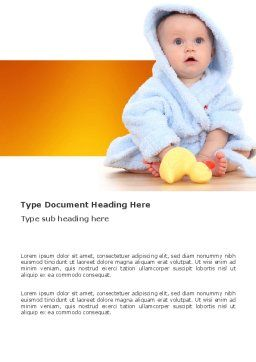 Little Baby Word Template, Cover Page, 03426, People — PoweredTemplate.com
