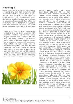 Yellow Flower In A Green Grass Word Template, First Inner Page, 03427, Nature & Environment — PoweredTemplate.com