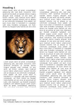 Lion With Red Mane Word Template, First Inner Page, 03428, Agriculture and Animals — PoweredTemplate.com