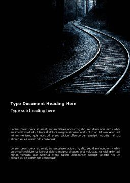 Railway Word Template, Cover Page, 03431, Business Concepts — PoweredTemplate.com