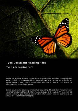 Butterfly Effect Word Template Cover Page