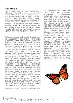 Butterfly Effect Word Template First Inner Page
