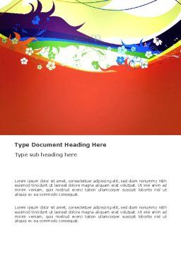 Artistic Design Word Template, Cover Page, 03433, Abstract/Textures — PoweredTemplate.com