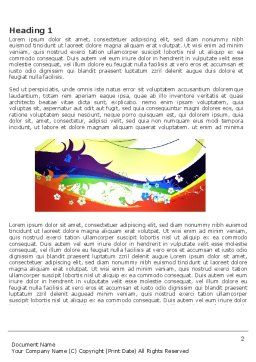 Artistic Design Word Template, First Inner Page, 03433, Abstract/Textures — PoweredTemplate.com