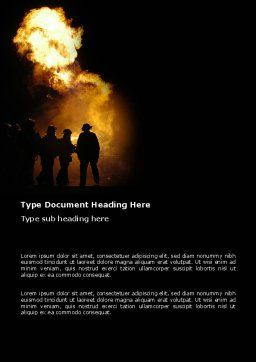Fire Brigade Word Template, Cover Page, 03434, Careers/Industry — PoweredTemplate.com