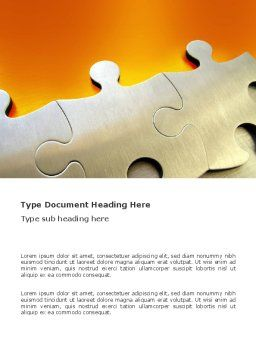 Puzzle Parts Word Template, Cover Page, 03435, Business Concepts — PoweredTemplate.com
