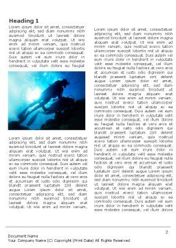 Diving Word Template, First Inner Page, 03439, Sports — PoweredTemplate.com